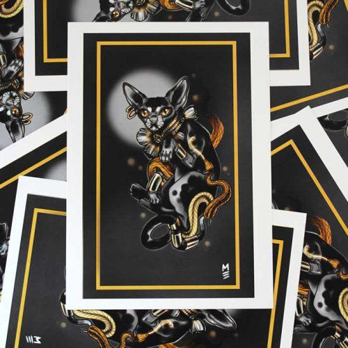 Sphynx Cat Tattoo Print