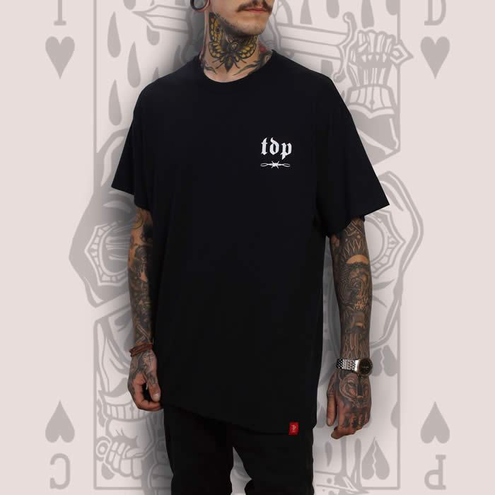 Suicide King of Hearts TDP Logo Black T-Shirt