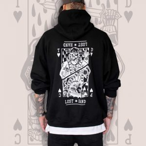 Suicide King of Hearts Black Hoodie Men