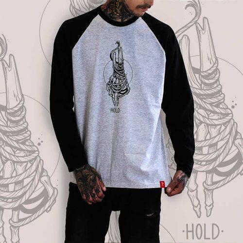 Skeleton Hand Grey Raglan