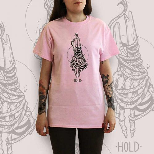 Skeleton Hand Pink T-Shirt