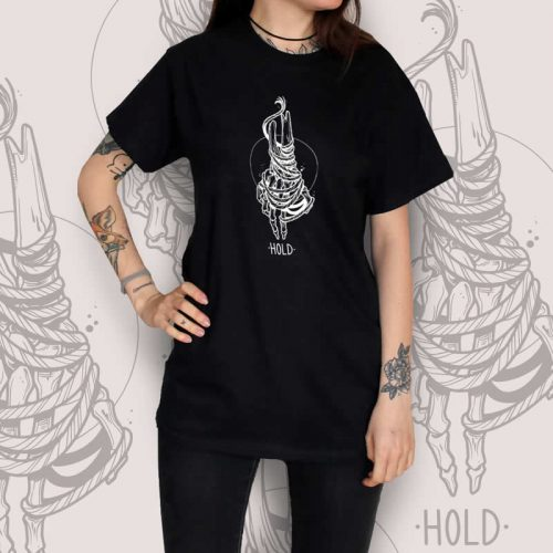 Skeleton Hand Black T-Shirt