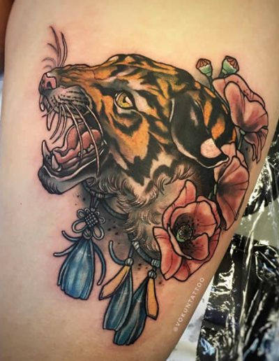 Vokun Tattoo Neotraditional Tiger