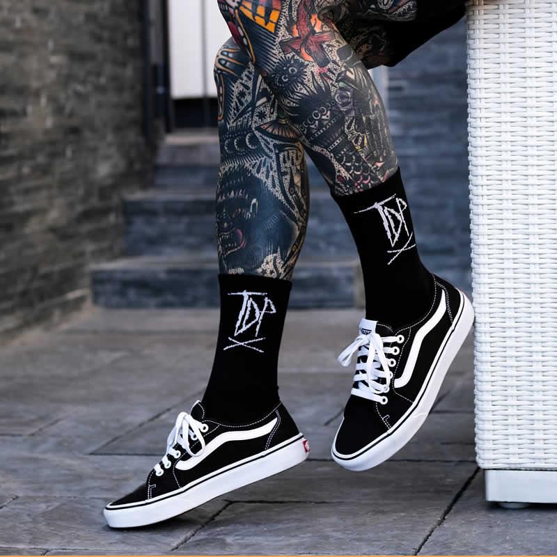 Classic Logo Black + White Socks