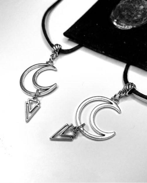 Hex Asylum Moon Pendant - Occult Jewelry