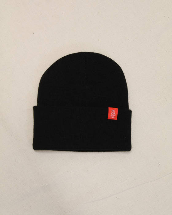 The Usual Black Beanie - TDP Clothing