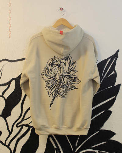 Dark Chrysanthemum Sand Hoodie Back Print