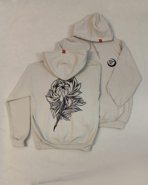Dark Chrysanthemum Sand Hoodie TDP Clothing Helsinki
