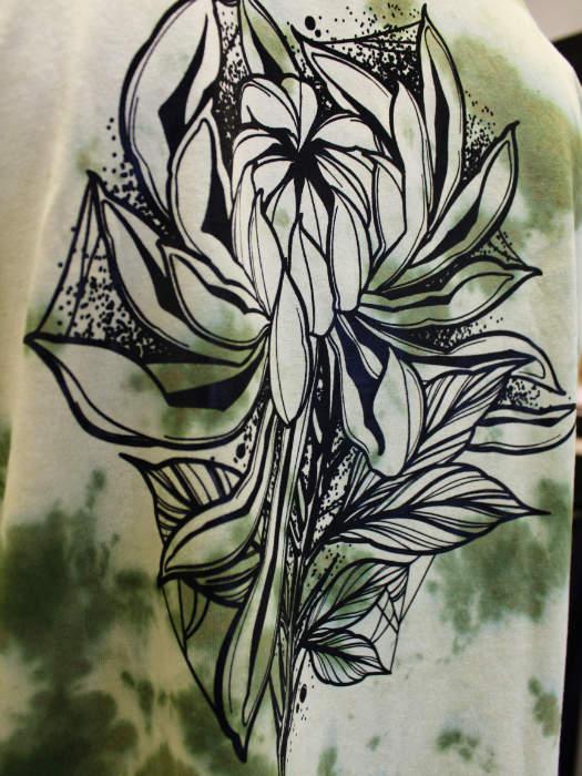 Dark Chrysanthemum TieDye T-Shirt Neotraditional