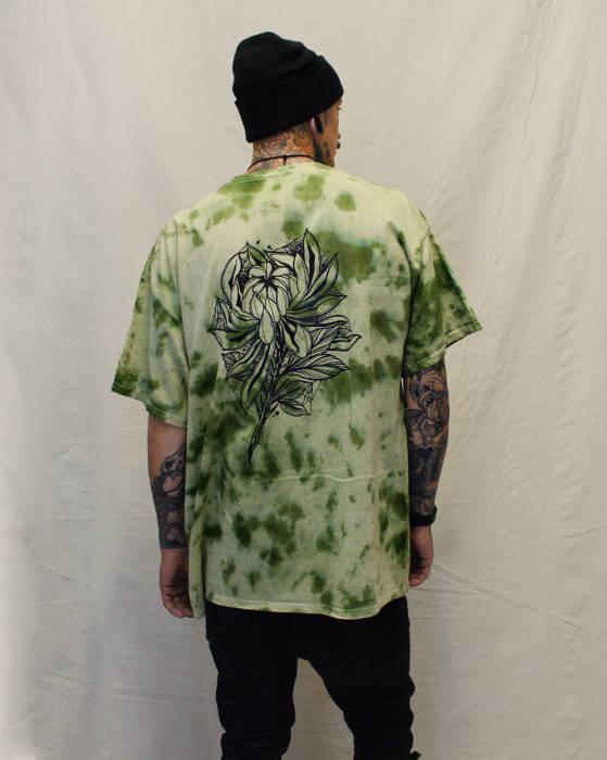 Dark Chrysanthemum TieDye T-Shirt Back Print