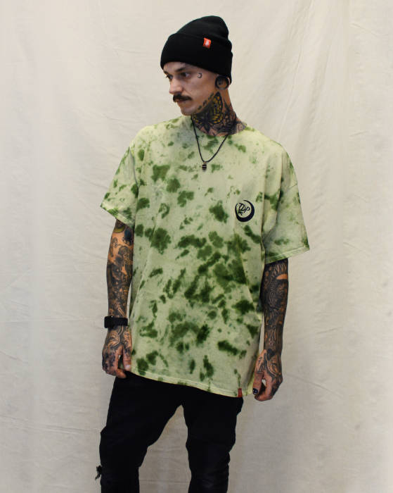 Dark Chrysanthemum TieDye T-Shirt Front Print